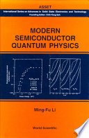 Modern Semiconductor Quantum Physics