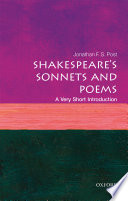 Shakespeare s Sonnets and Poems  a Very Short Introduction