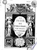 La suite de Philostrate par Blaise de Vigenere Bourbonnois
