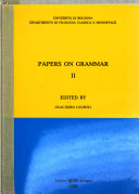 Papers on Grammar