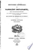 Histoire G  n  rale de Napol  on Bonaparte