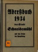 Adreßbuch der Stadt Schneidemühl