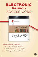 Introduction to Sociology  Canadian Version Electronic Version