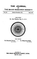 The Journal of the Bihar Research Society Book PDF