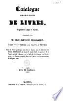 Catalogue d une belle collection de livres      d  laiss  s par Mr  Jean Baptiste Eeckelaert