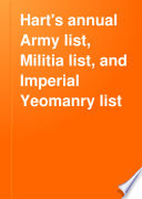 Hart s Annual Army List  Militia List  and Imperial Yeomanry List Book PDF