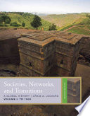 Societies  Networks  and Transitions  Volume 1  To 1500
