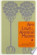 Amy Lowell American Modern