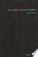 Acoustic Communication book