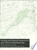 Geology And Mineral Resources Of Part Of The Cumberland Gap Coal Field Kentucky