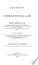 Elements of International Law