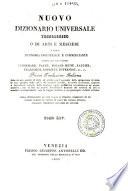 Supplimento al nuovo dizionario universale tecnologico o di arti e mestieri   compilato sulle migliori opere di scienze ed arti pubblicatesi negli ultimi tempi