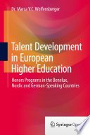 Talent Development in European Higher Education