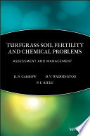 Turfgrass Soil Fertility   Chemical Problems