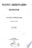 Nuovo dizionario siciliano italiano