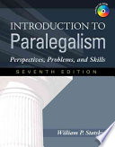 Introduction to Paralegalism  Perspectives  Problems and Skills