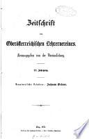 Zeitschrift des Oberösterreichischen Lehrervereines