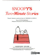 Snoopy's Two-minute Stories : more peanuts favorites....