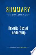 Summary  Results Based Leadership