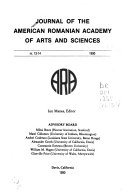 Journal of the American Romanian Academy of Arts and Sciences