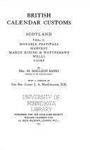 British Calendar Customs: Scotland : ...