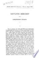 Giovanni Berchet ed il romanticismo italiano Vittorio Imbriani