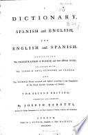 A Dictionary  Spanish and English  and English and Spanish