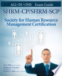 SHRM CP SHRM SCP Certification All in One Exam Guide