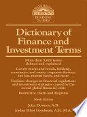 Dictionary of Finance and Investment Terms  9th ed
