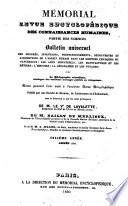 M  morial encyclop  dique et progressif des connaissances humaines  ou annales des sciences  lettres et beaux auts