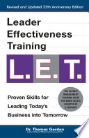 Leader Effectiveness Training L E T Revised