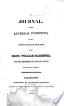 A Journal of the External Evidences of the Lord's Gracious Dealings with Doct. William Gardiner, for His Redemption and Salvation