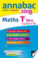 Annales Annabac 2018 Maths Tle ES, L