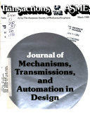 Journal of Mechanisms, Transmissions, and Automation in Design