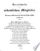 Verzeichnis der ordentlichen Mitglieder des Vereines zur Beförderung der bildenden Künste zu Wien