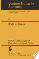 Benefit Cost Analysis of Data Used to Allocate Funds
