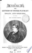 The letters of Peter Plymley  essays  and speeches