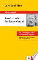 Klett Lekt  rehilfen   Alfred Andersch  Sansibar oder der letzte Grund