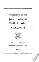 Proceedings Of The International Civil Aviation Conference