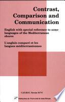 Anglais Comparé Et Les Langues Méditerranéennes