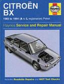 Citroen Bx Service And Repair Manual