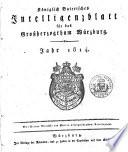 Königlich-baierisches Intelligenzblatt für das Großherzogthum Würzburg