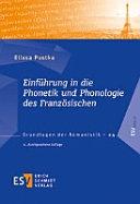Einf  hrung in die Phonetik und Phonologie des Franz  sischen