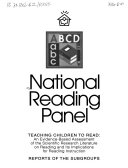 Report of the National Reading Panel   Teaching Children to Read   an Evidence based Assessment of the Scientific Research Literature on Reading and Its Implications for Reading Instruction