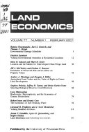 Land Economics