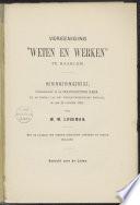 Vereeniging  Weten en Werken  te Haarlem