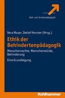 Ethik in der Behindertenpädagogik