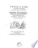 La divina commedia di Dante Alighieri con varie annotazioni  e copiosi rami adornata      Tomo primo   quarto  Parte seconda