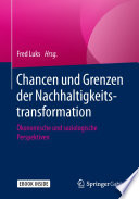Chancen und Grenzen der Nachhaltigkeitstransformation