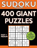 Sudoku Book 400 Giant Puzzles  200 Easy and 200 Medium